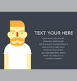 hipster style bearded man character set- design vector image