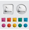 Icon trainer treadmill vector image