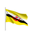 national flag of brunei vector image
