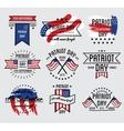Patriot day set September 11 vector image