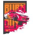 Burnout car Japanese drift sport JDM vector image