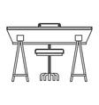 wooden desk icon vector image