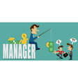businessman manager with deceive vector image