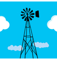 Water pumping windmill vector image