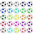 colorful football set 02 vector image