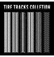 Tire track collection vector image vector image