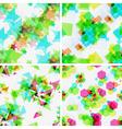 Set of modern seamless patterns vector image