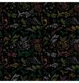 Black food pattern vector image