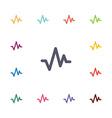 pulse flat icons set vector image