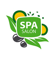 logo stones and leaves for spa salon vector image