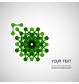 abstract colored molecule on a white background vector image