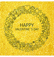 Happy Valentine Day Holiday Line Art Icons Set vector image