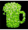 clover beer mug vector image vector image