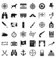adventure icons set simple style vector image