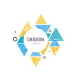 design logo template abctract geometric element vector image