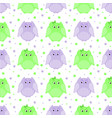 green and purple striped owls vector image