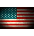 Grungy American Flag Background vector image
