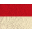 Monaco paper flag vector image