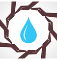 Save water concept vector image