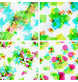 Set of modern seamless patterns vector image