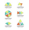 set of triangle abstract icons isolated vector image
