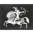 warrior archer on horseback vector image