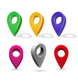 directory 3d pointer icons mapping pin vector image