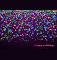 congratulations background with confetti vector image