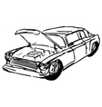 car hood vector image