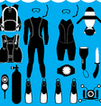 scuba set vector image