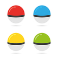 Game Balls Set to Play In The Team vector image