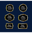 Luxury premium quality golden labels collection vector image