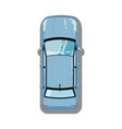 modern sedan top view icon vector image