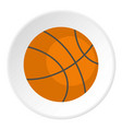 orange basketball ball icon circle vector image