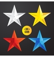 paper origami star icon Colorful origamy vector image