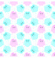 pink and blue striped owls vector image
