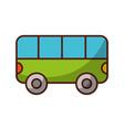 shadow bus cartoon vector image