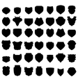 Silhouettes of Shields vector image