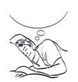 sleeping man art in pop art style eps 10 vector image