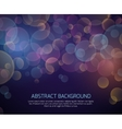 Abstract color bokeh background vector image vector image