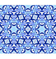 kaleidoscopic seamless pattern blue vector image