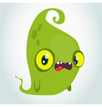 funny green cartoon monster halloween vector image