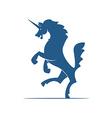 Heraldic elements Unicorn vector image