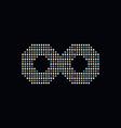 infinity circle dot logotype vector image