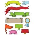 hand drawn scroll banners vector image