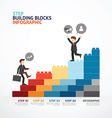 Infographic Template step building blocks vector image