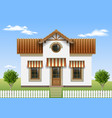 beautiful small house vector image