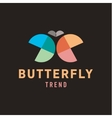 Butterfly wings are half circles Abstract vector image