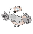 Cartoon sparrow vector image
