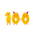cute animallike character number hundred vector image
